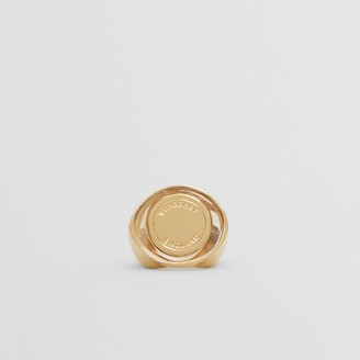 Burberry Resin and Gold-plated Signet Ring
