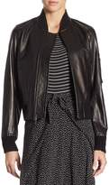 Vince Women's Lamb Leather Bomber Jacket