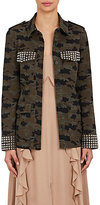 L'Agence Women's Cromwell Camouflage Cotton-Blend Jacket