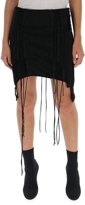 Helmut Lang Asymmetric Mini Skirt