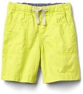 Twill pull-on shorts