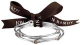 John Hardy Batu Bamboo Silver & Smoky Quartz Slim Bangle Bracelets, Set of Three