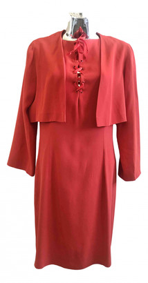 Paule Ka Red Viscose Dresses