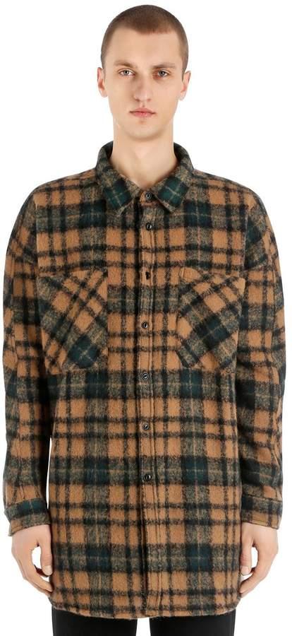 Faith Connexion Plaid Wool Blend Flannel Shirt