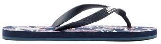 Vilebrequin Coral-print Rubber Flip Flops - Mens - Navy Multi