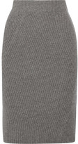 Madewell Ribbed Merino Wool Skirt - Gray