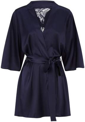 Fleur of England Short Silk Robe