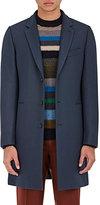 Paul Smith Men's Twill Top Coat-BLUE