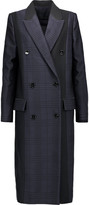 Proenza Schouler Double-breasted paneled jacquard coat