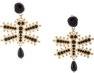 Etro dragonfly earrings