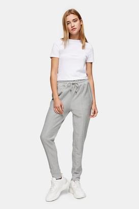 Topman Womens Grey Twill Joggers - Grey