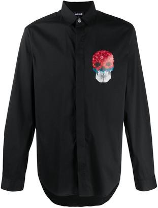 Just Cavalli Skull-Print Long-Sleeved Shirt