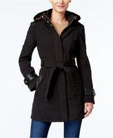 Via Spiga Faux-Leather-Trim Walker Coat