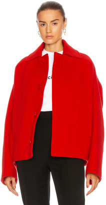 Balenciaga Upside Down Peacoat in Red | FWRD