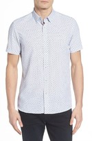 Ted Baker Men's Lenshor Extra Slim Fit Geo Print Sport Shirt