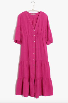 XiRENA The Kendall Dress In Lipstick Pink - XS