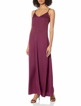 Armani Exchange A X Women's Spaghetti Strap V Neck Woven Maxi Dress