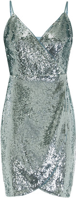 Aidan Mattox Sequin Wrap Dress