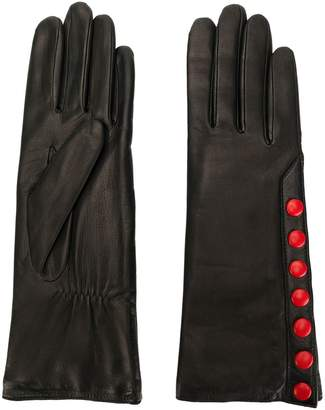 Agnelle gloves with contrast poppers
