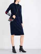 Mo&Co. Hooded wool and yak-blend dress