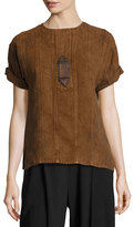 Ralph Lauren Sahara Heavy Linen Tee, Brown