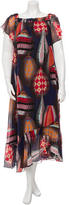 MSGM Silk Printed Strapless Maxi Dress w/ Tags