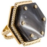 Rachel Zoe Marbled Hexagon Crystal Ring