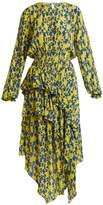 Preen Line Eden floral-print ruffle-trimmed crepe dress