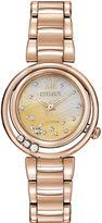 Citizen Eco-Drive Sunrise Womens Diamond-Accent Bracelet Watch EM0323-51N
