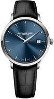 Raymond Weil Men's Swiss Toccata Black Leather Strap Watch 39mm 5488-STC-50001 - A Macy's Exclusive