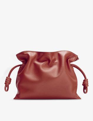 Loewe Flamenco Knot leather clutch bag