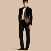Burberry Slim Fit Tailored Velvet Jacket