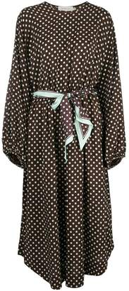 Zimmermann polka-dot belted dress