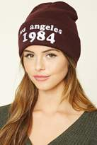 Forever 21 Los Angeles 1984 Beanie