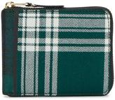 Comme des Garcons Large Green Tartan Wallet - unisex - Leather/Polyurethane/Wool - One Size