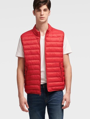 DKNY Women's Puffer Vest - Red - Size S