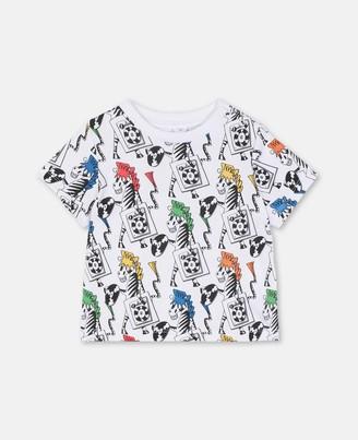 Stella Mccartney Kids Zebra Dj Cotton T-Shirt, Unisex