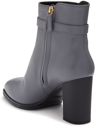 Tod's Leather Block Heel Bootie