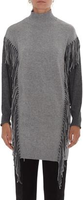 Pinko Fringed Sweater Dress
