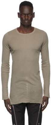 Rick Owens Grey Long Sleeve T-Shirt