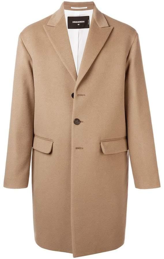 DSQUARED2 longsleeved buttoned up coat