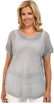 MICHAEL Michael Kors Size Mesh Short Sleeve boxy Sweater