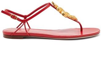Valentino T-Strap Gold Snake Sandals