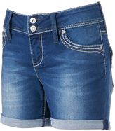 Hydraulic Juniors' Double-Button Denim Midi Shorts