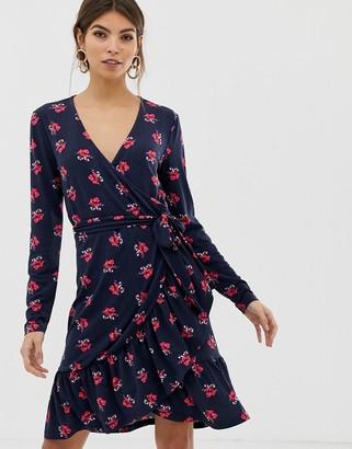 Y.A.S floral wrap dress