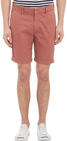 Barneys New York MEN'S CHINO SHORTS-ORANGE, RED SIZE 36