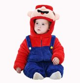 Aokaixin Infant Baby Toddler Hoodie Rompers Costumes Baby Suit