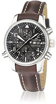 Fortis Men's 702.10.81 L.01 F-43 Flieger Chronograph Alarm Analog Display Automatic Self Wind Black Watch