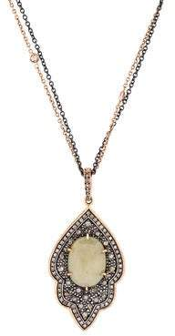 Moritz Glik Two-Tone Sapphire and Diamond Pendant Necklace