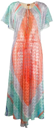 Missoni Mare Colour-Block Flared Maxi Dress